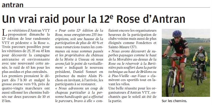 nr 18 juin 2009 - Antran - Un vrai raid pour la 12e Rose d Antran 3646338d2443